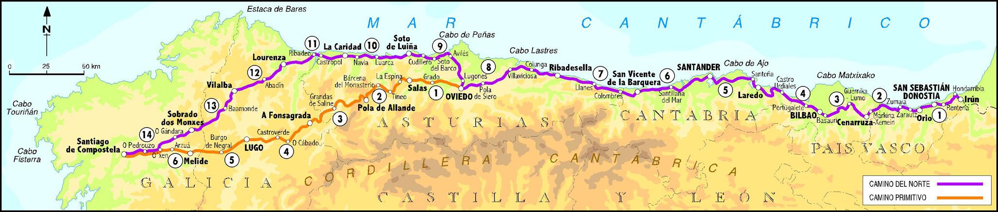 el camino trail spain map with Camino De Santiago En Llanes on El Camino De Santiago in addition Camino Santiago Destino Veraniego moreover Bilbao Santiago additionally 774105695 also El Caminito Del Rey Spain.